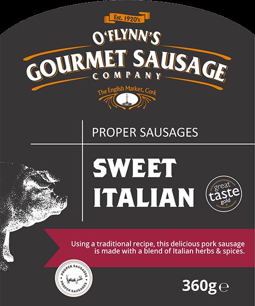 Sweet Italian Packaging Label