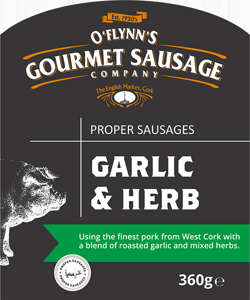 Garlic and Herb Packaging Label
