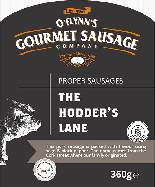 The Hodder's Lane Packaging Label