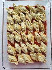 Stuffed Pesto Pasta Shells with Sweet Italian